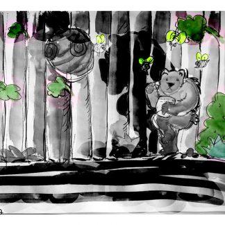 דובי דב ציור