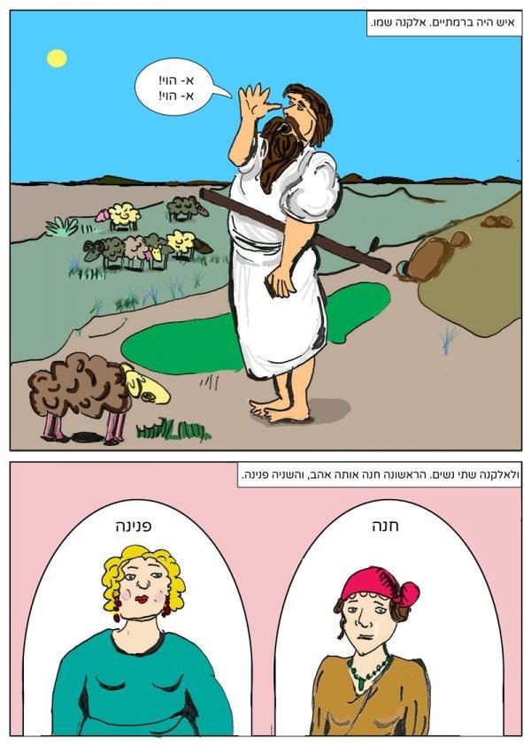 חנה הנביאה קומיקס דף 1