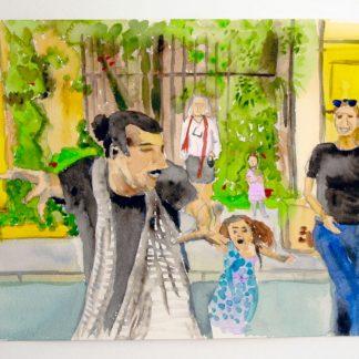 ציור לפי צילום של שלומית כרמלי