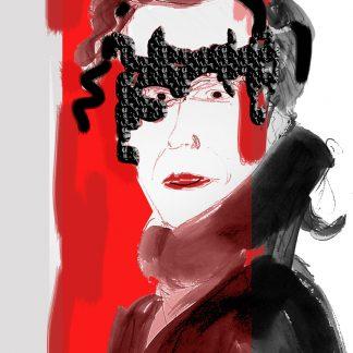 ציור של השחקנית מאיה גסנר