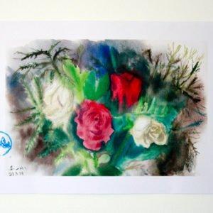 לחדר העבודה ולבית - הדפסי פרחים בצבעי מים