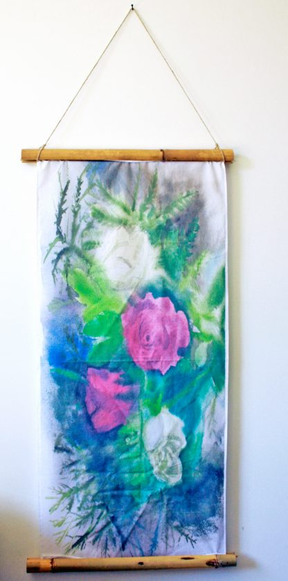 ורדים הדפס על בד