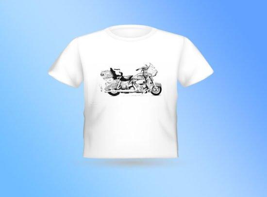 חולצה לבנה אופנוע הארלי