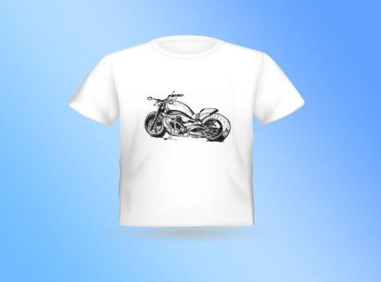 חולצה לבנה אופנוע צידי