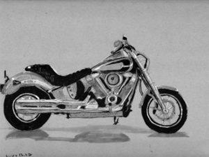 הדפס של אופנוע הארלי דוידסון דגם חדיש