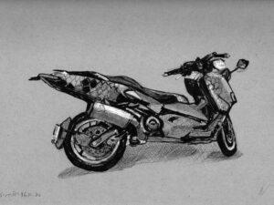 פוסטר של קטנוע ימהה כוורת על נייר אמנות