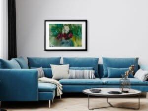 ורדים מס 3 הדפס אמנות מציור אקוורל מקורי