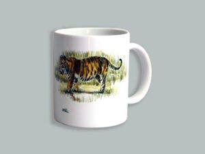 כוס מאוירת של נמרה בנגלית. הסדרה הצבעונית