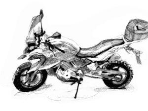 הדפס של אופנוע ב.מ.וו 750 ג'י.אף. BMW