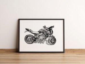 פוסטר של אופנוע ימהה MT-07